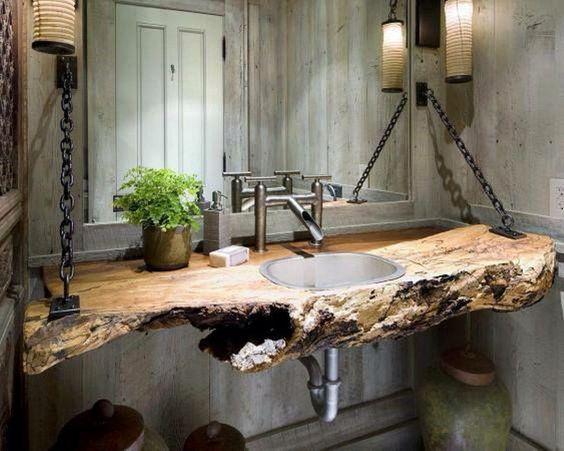 ideias rusticas decorar banheiro ideias 2