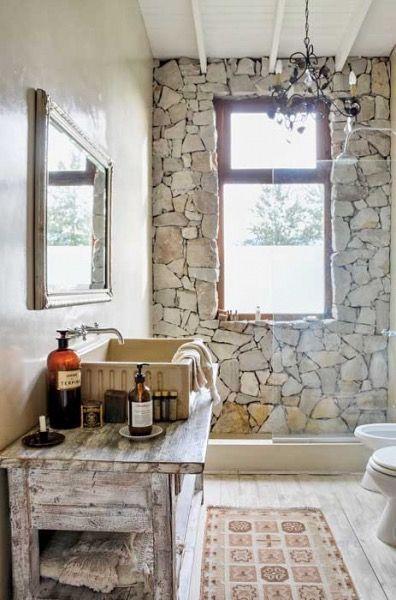 ideias rusticas decorar banheiro ideias 4