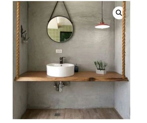 ideias rusticas decorar banheiro prateleiras