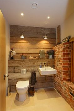 ideias rusticas decorar banheiro revestimento parede