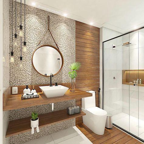 ideias rusticas decorar banheiro revestimento