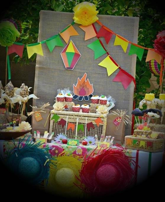 ideias mesas festa junina quadrilha arraia decoracao
