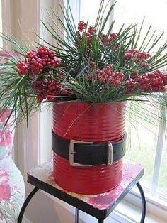 latas decoradas centro mesa