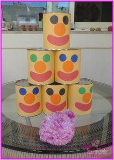 latas decoradas festa junina brincadeira
