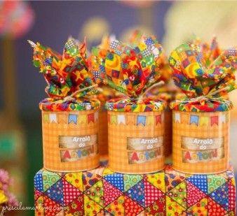 latas decoradas festa junina lembrancinha