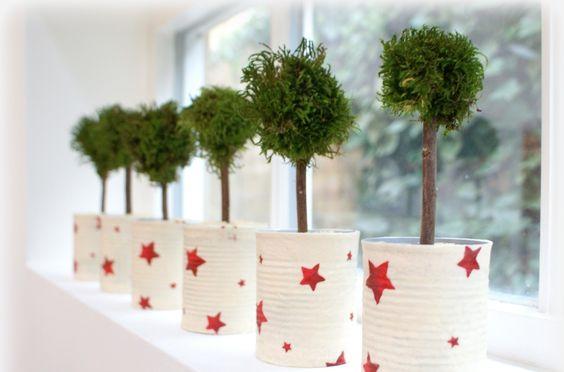 latas decoradas natal estrelas