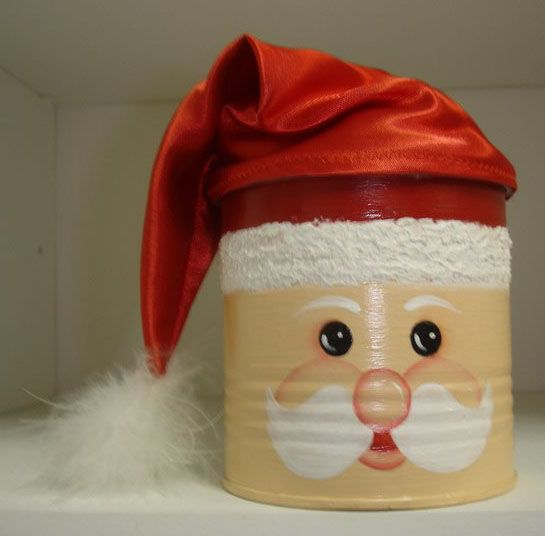 latas decoradas natal noel