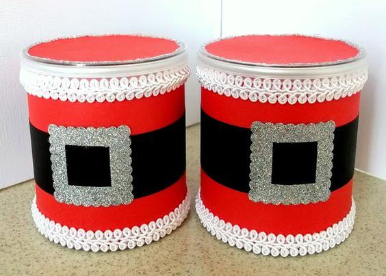 latas decoradas natal papai noel