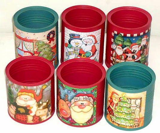 latas decoradas natal