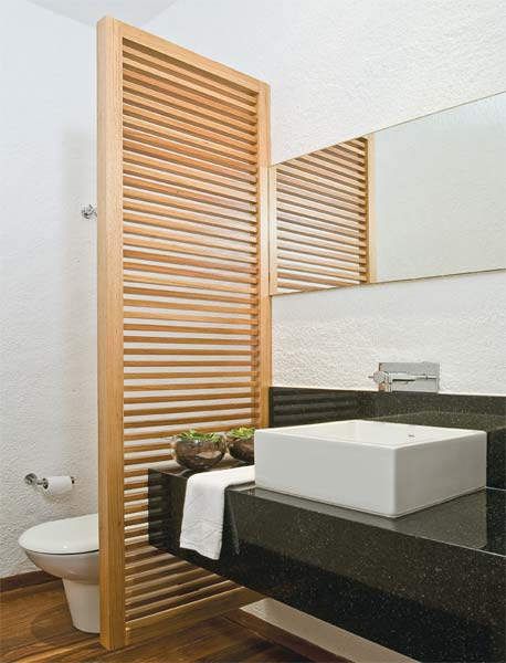 lavabo com biombo