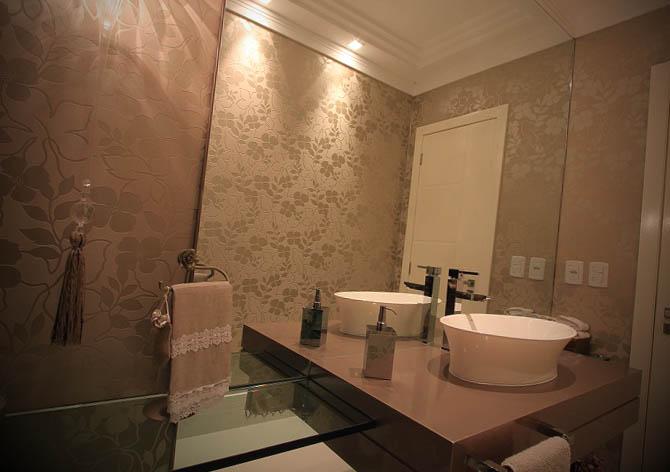 Fotos de lavabos decorados com papel de parede - Papel para revestir paredes ...