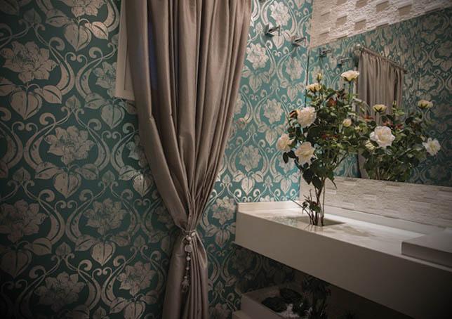 lavado decoracao com papel de parede