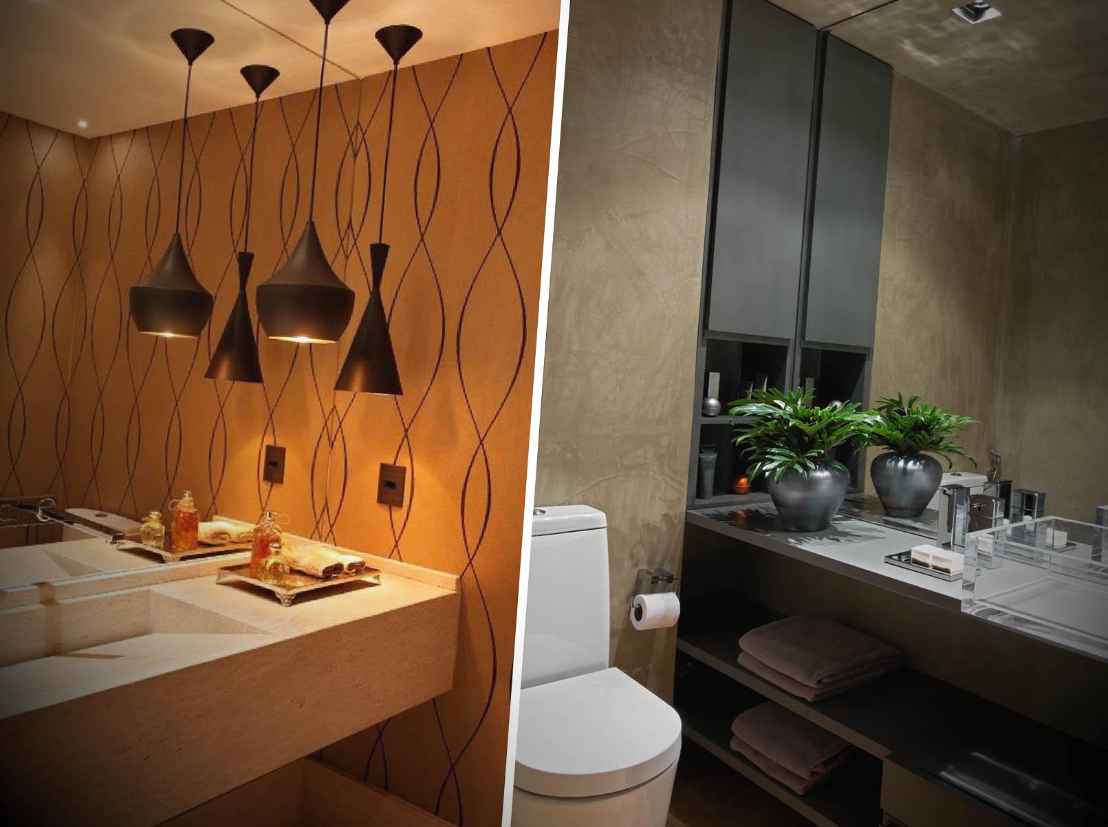 lavados decorados com papel de parede