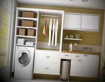 lavandaria decorada pequena