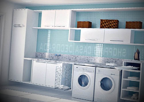 lavandaria pequena decorada