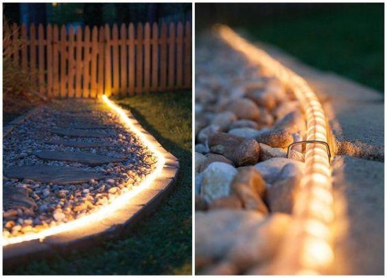 luminarias jardim