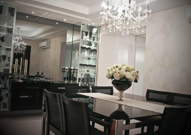 lustres de cristal para sala de jantar
