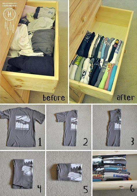 melhores ideias para organizar a sua roupa 2