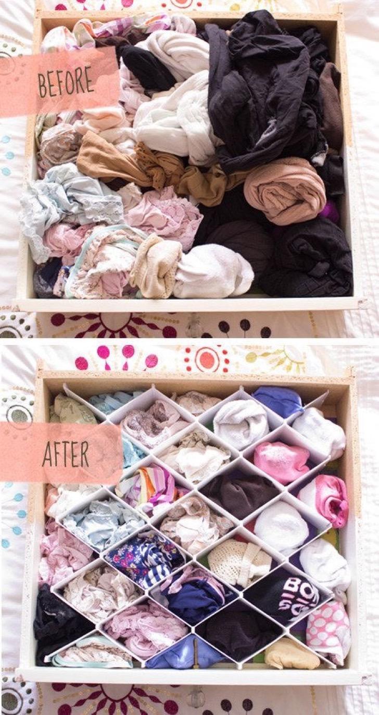 melhores ideias para organizar a sua roupa 5
