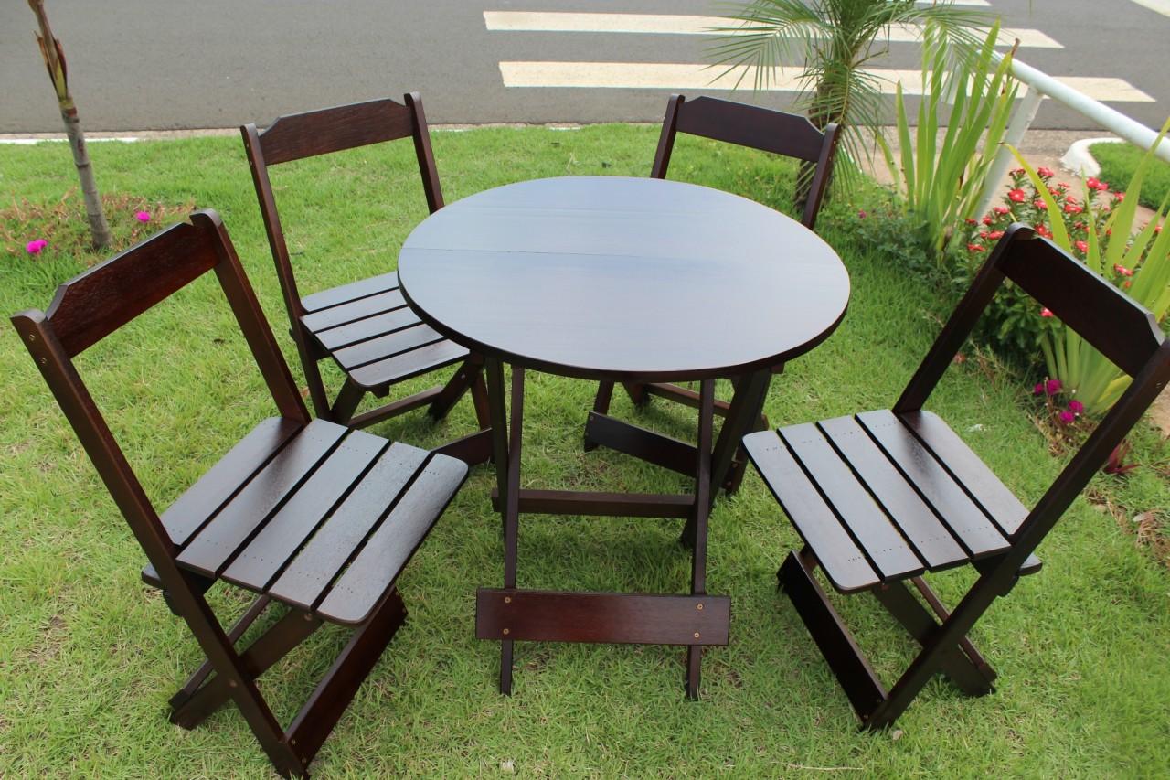 mesa cadeiras deck