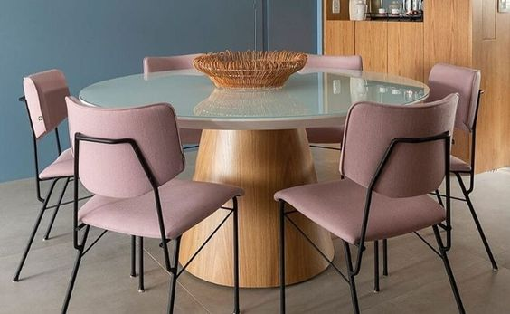 mesa de jantar redonda 6