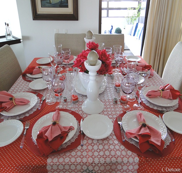 mesa decorada dia da mae