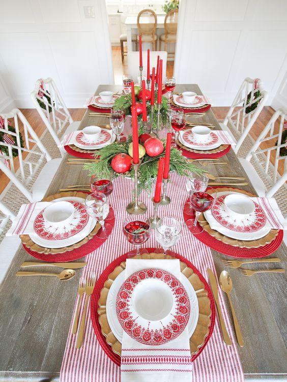 mesa decorada natal 5