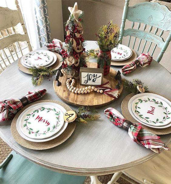 mesa decorada natal 6