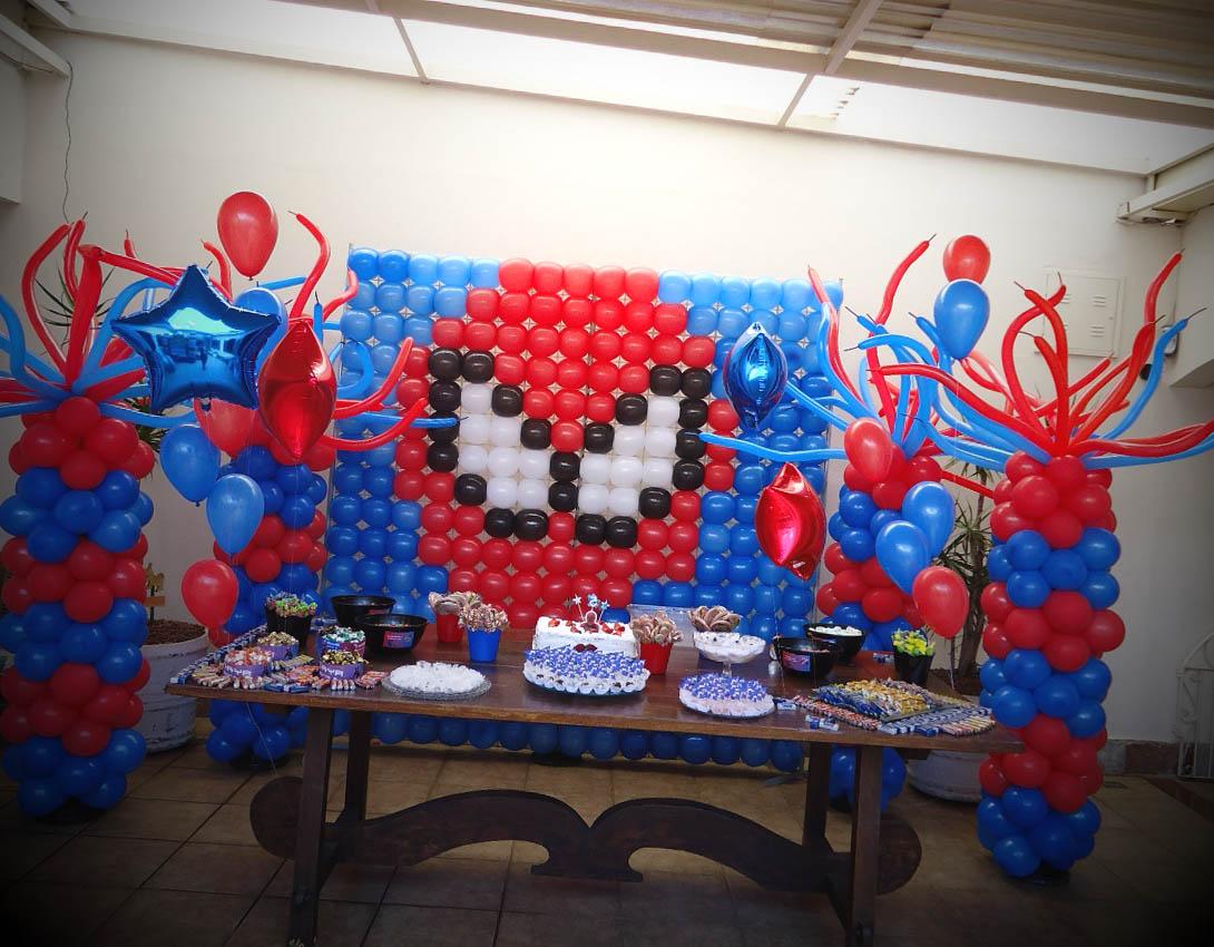 mesa festa do homem aranha