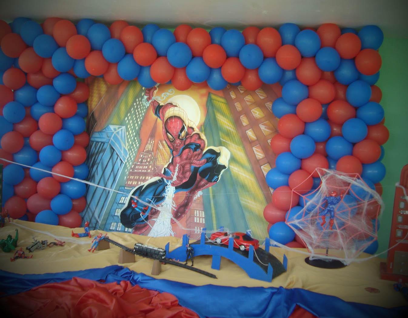 mesa festa infantil homem aranha