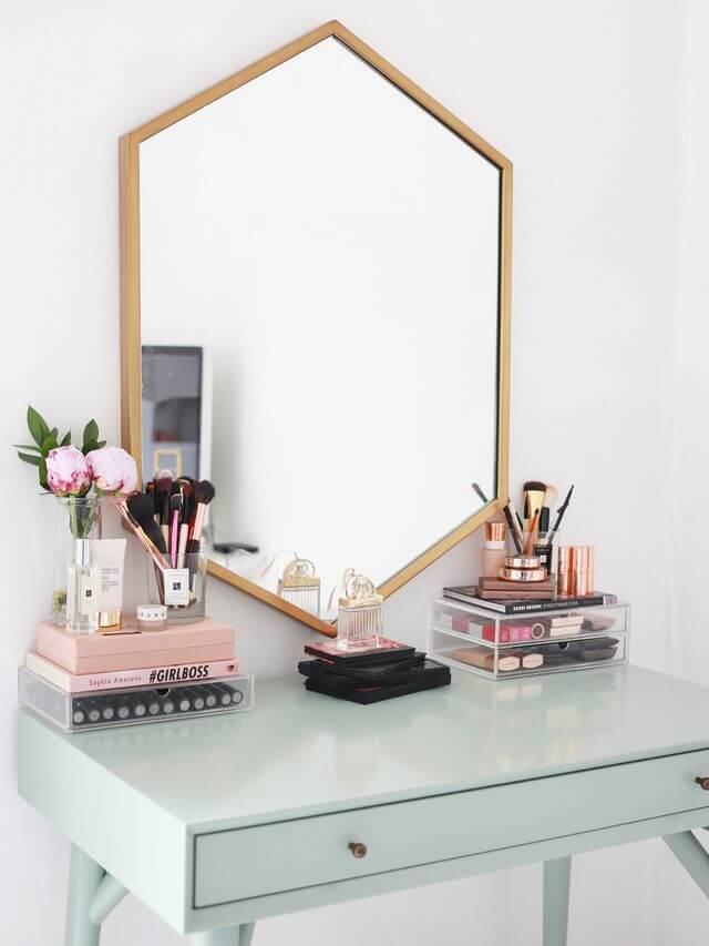 mesa maquiagem ideias 1