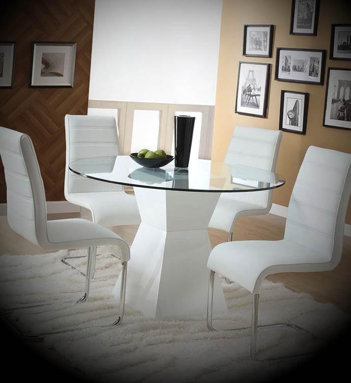 mesa moderna redonda sala jantar