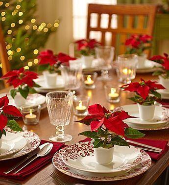mesa natal decorada