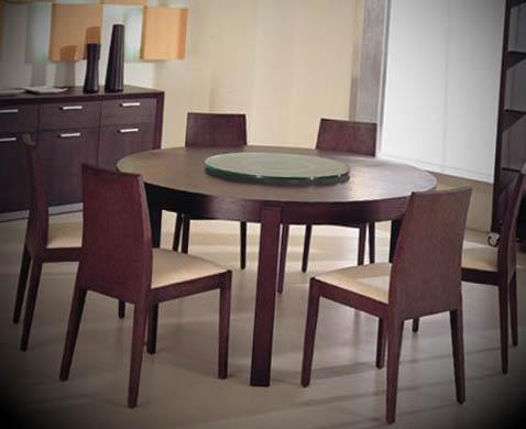 mesa redonda moderna sala jantar