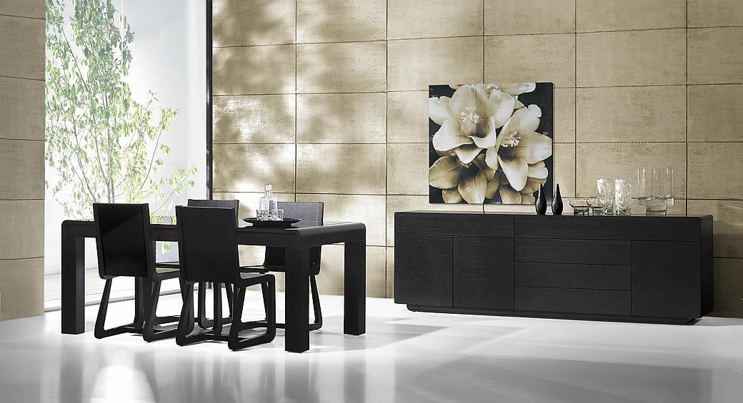 mesa sala de jantar preta