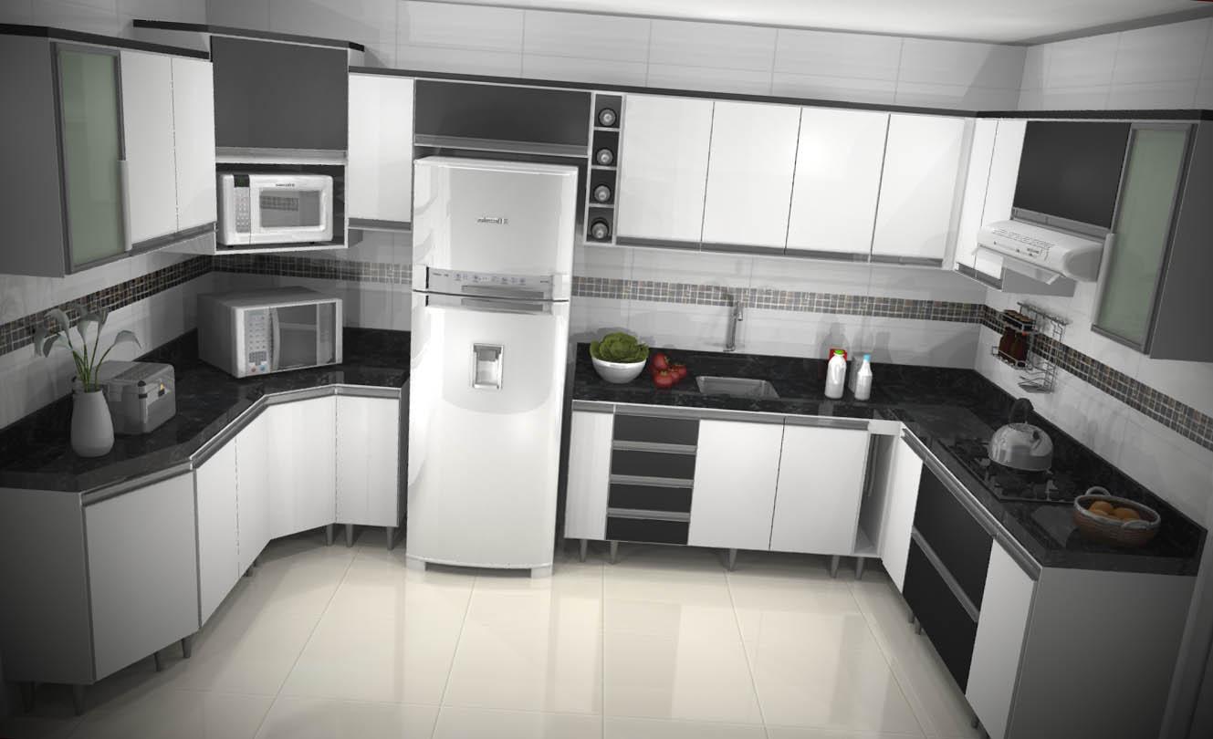 modelo armario de cozinha planejado