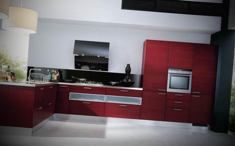 modelo cozinha moderna colorida
