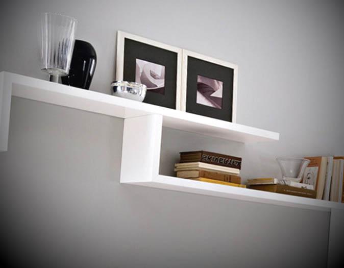 modelo prateleira de madeira em branco
