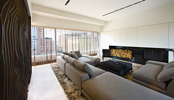modelos Apartamentos com Lareiras