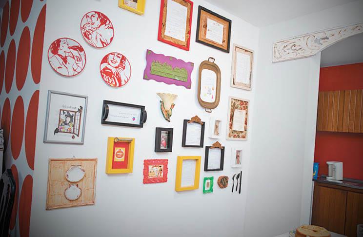 modelos porta retratos na parede