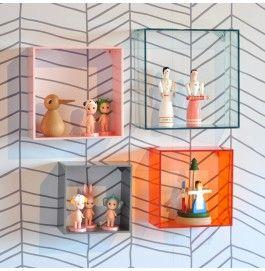 moveis acrilico decoracao quarto nichos