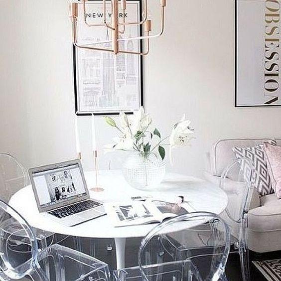 moveis acrilico decoracao sala mesa cadeiras