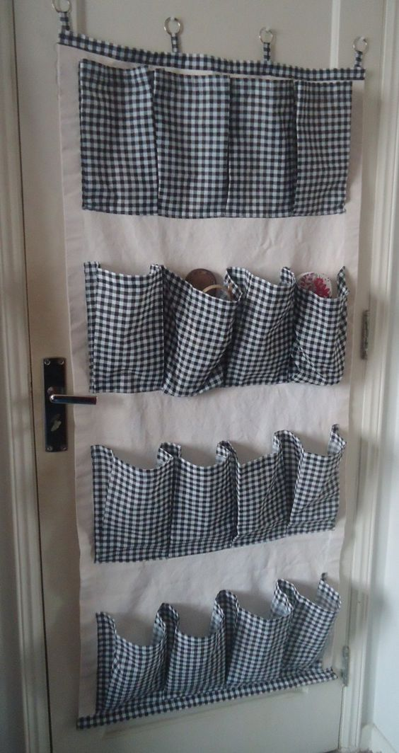 organizador de parede com bolsos 1