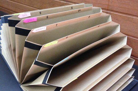 organizar contas recibos documentos