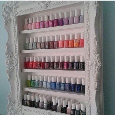 organizar maquiagem esmaltes