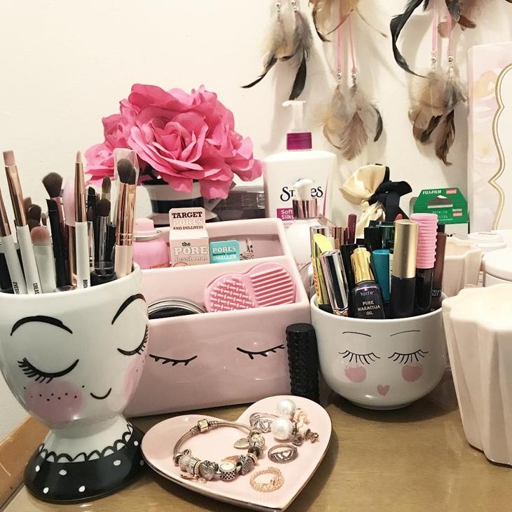 organizar maquiagem ideias