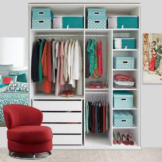 organizar o seu armario da roupa