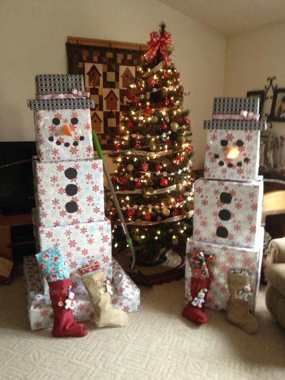 ornamentos natal decoracao embrulho