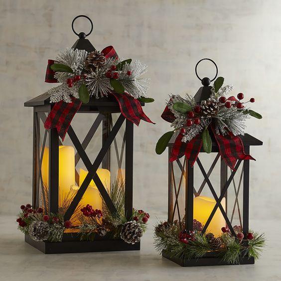 ornamentos natal decoracao lanterna