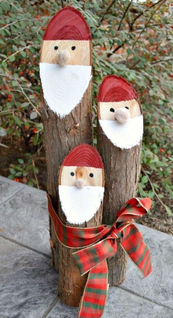 ornamentos natal decoracao madeira